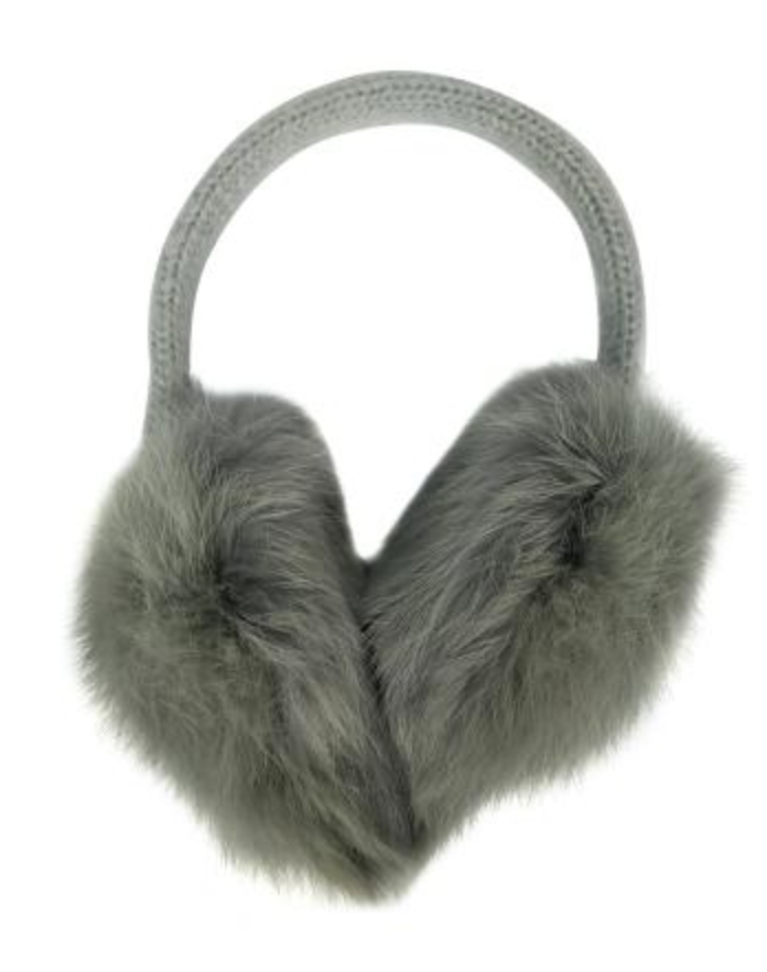Knit Rabbit Earmuff - Grey
