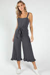 Navy Striped Jumpsuit
