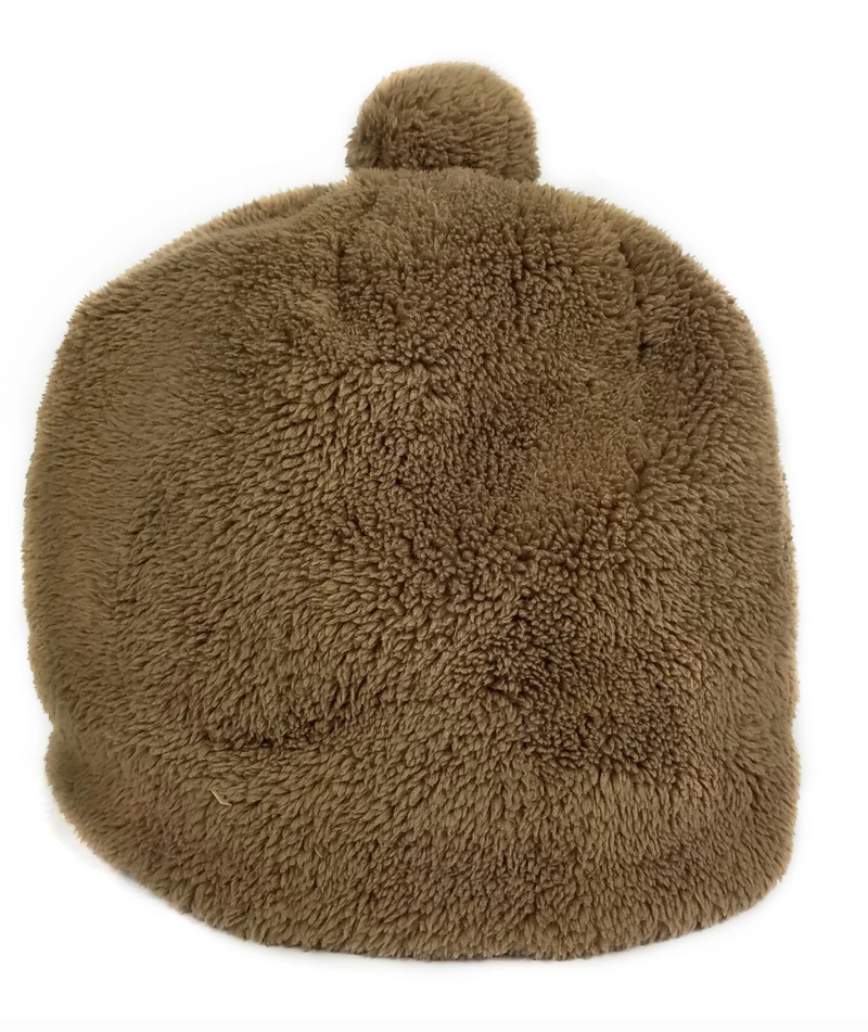 Teddy Pom Hat - Taupe