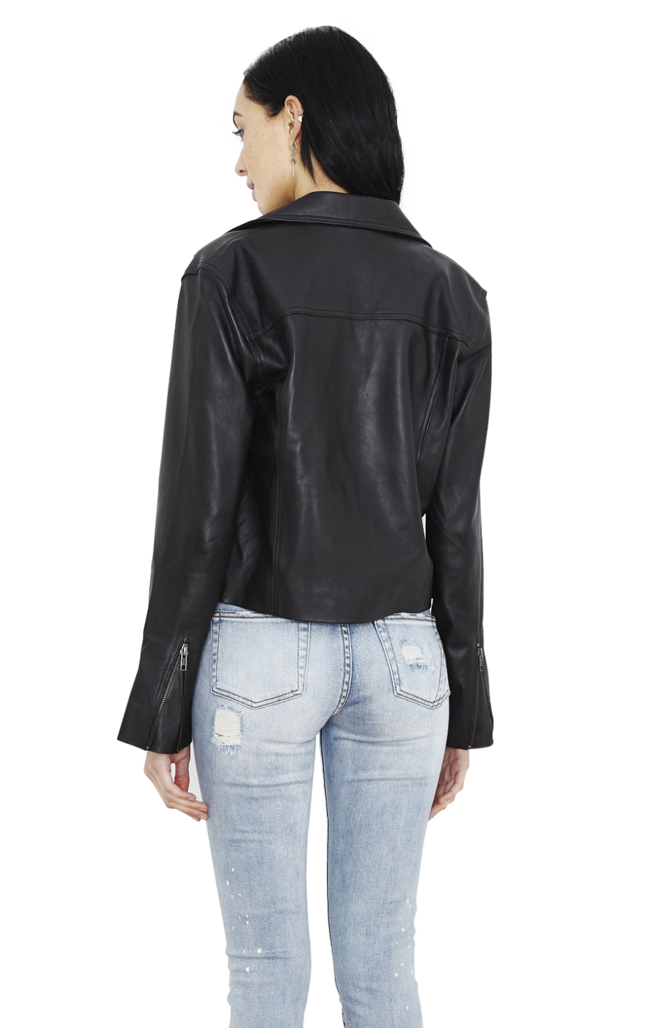 Billie Cropped Leather Jacket