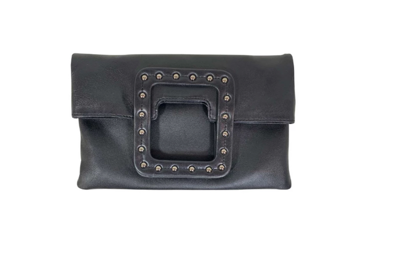 Mateo Studded Foldover Clutch