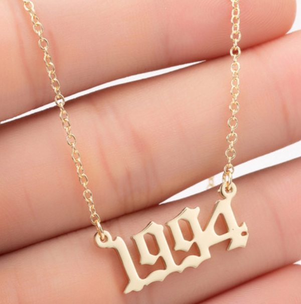 Old English Date Necklace