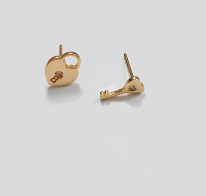 Heart Shaped Lockset Earrings