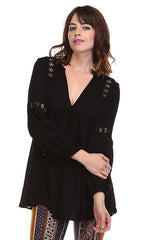 Night Moves Woven Boho Top - BIRD BEE - 1