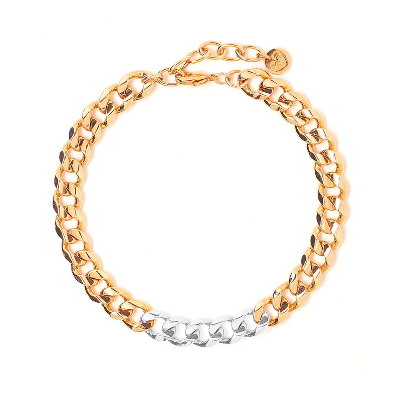Metal Block Bracelet - Gold