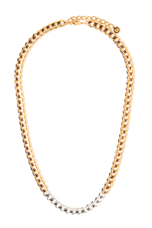 Metal Block Necklace - Gold