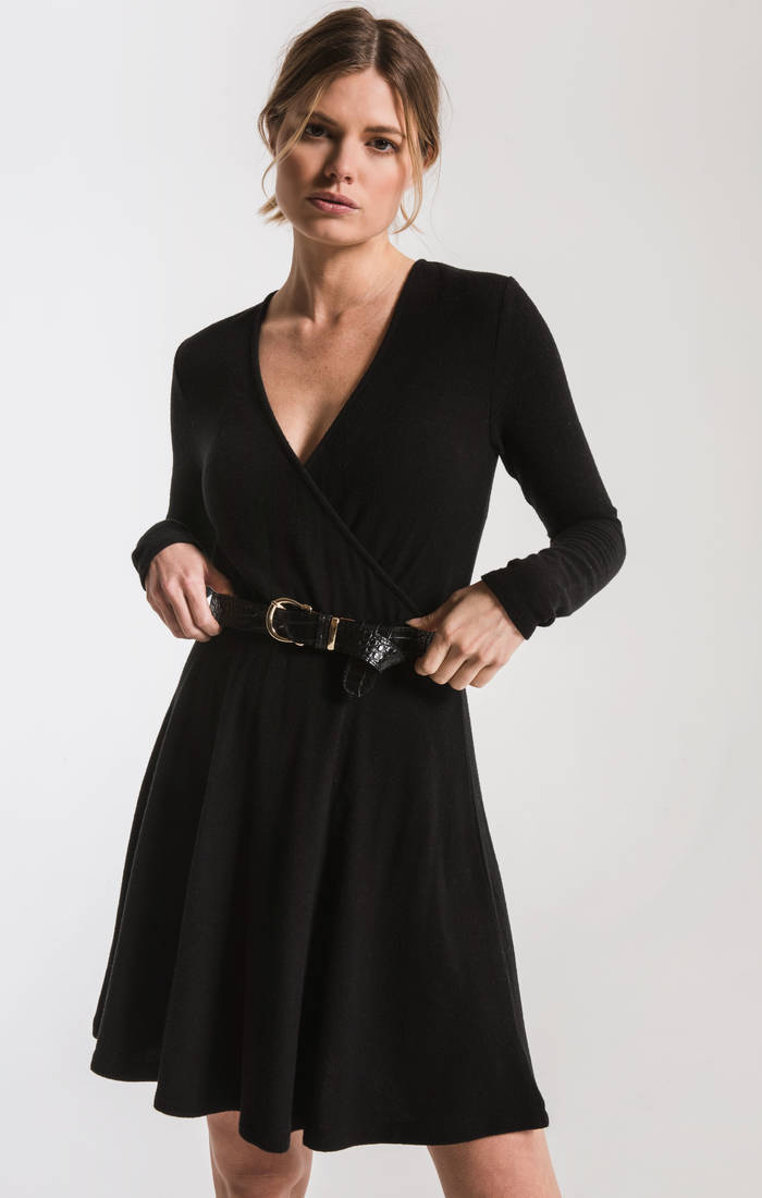 The Soft Spun Surplice Dress