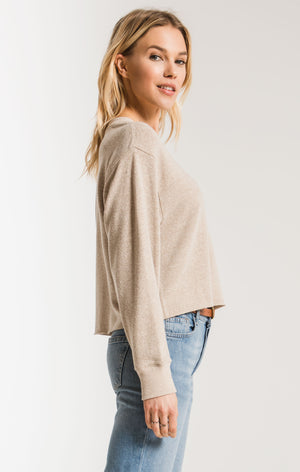 The Triblend L/S Cropped Tee