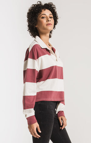 The Rugby Stripe Collared Shirt