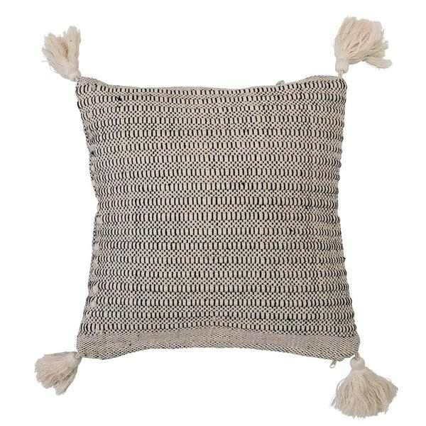 Beige Cotton Pillow w/tassels
