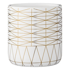 White & Gold Planter