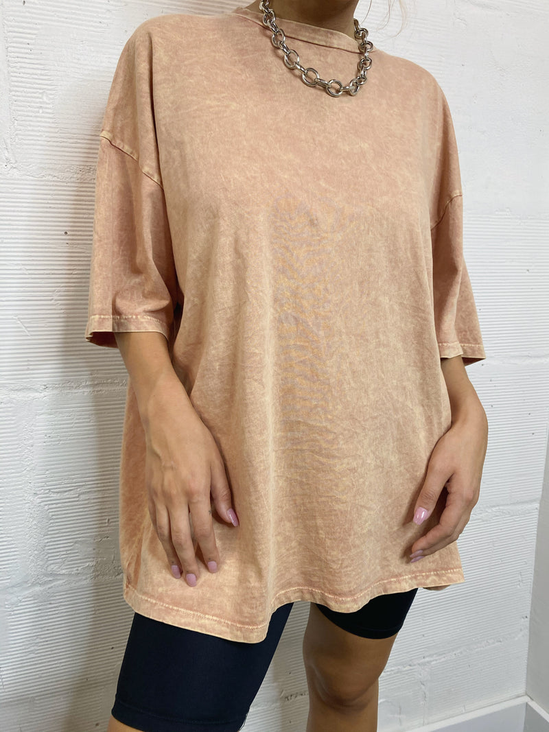 Over It Boyfriend Tee - Peach