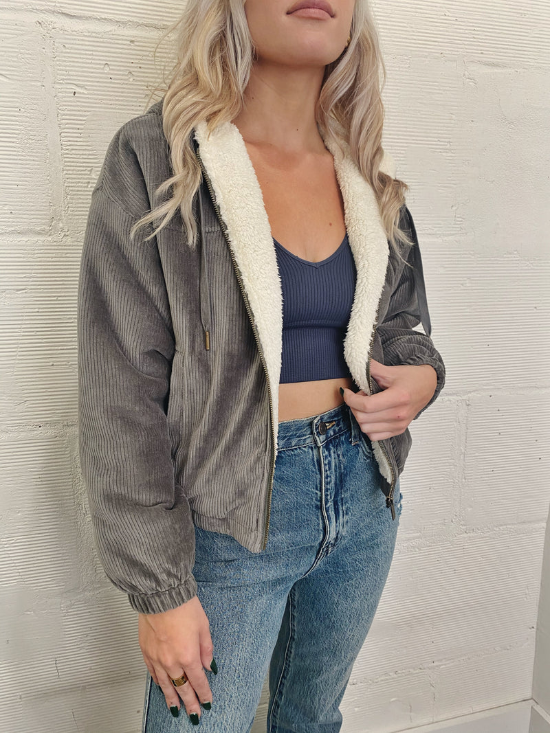 Camille Cord Bomber