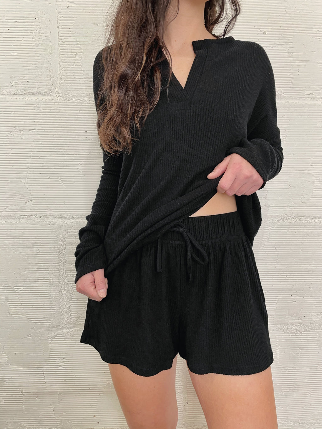 Morning Coffee Shorts - Black