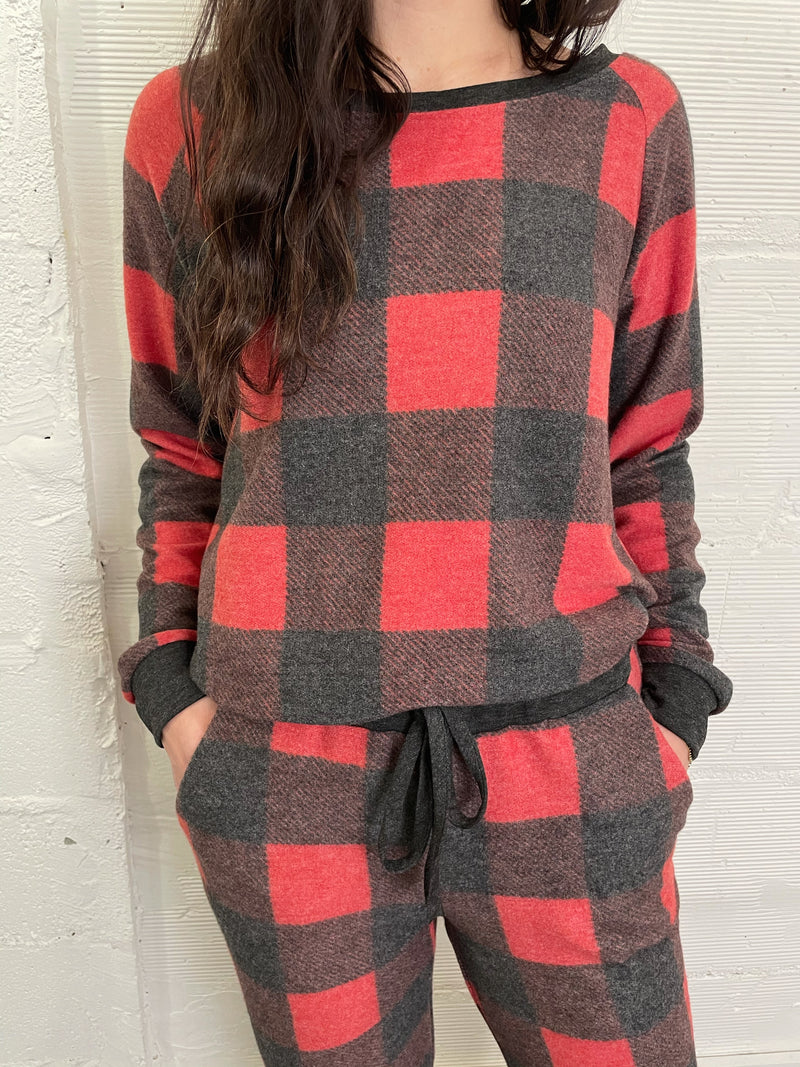 Holiday Plaid Pullover