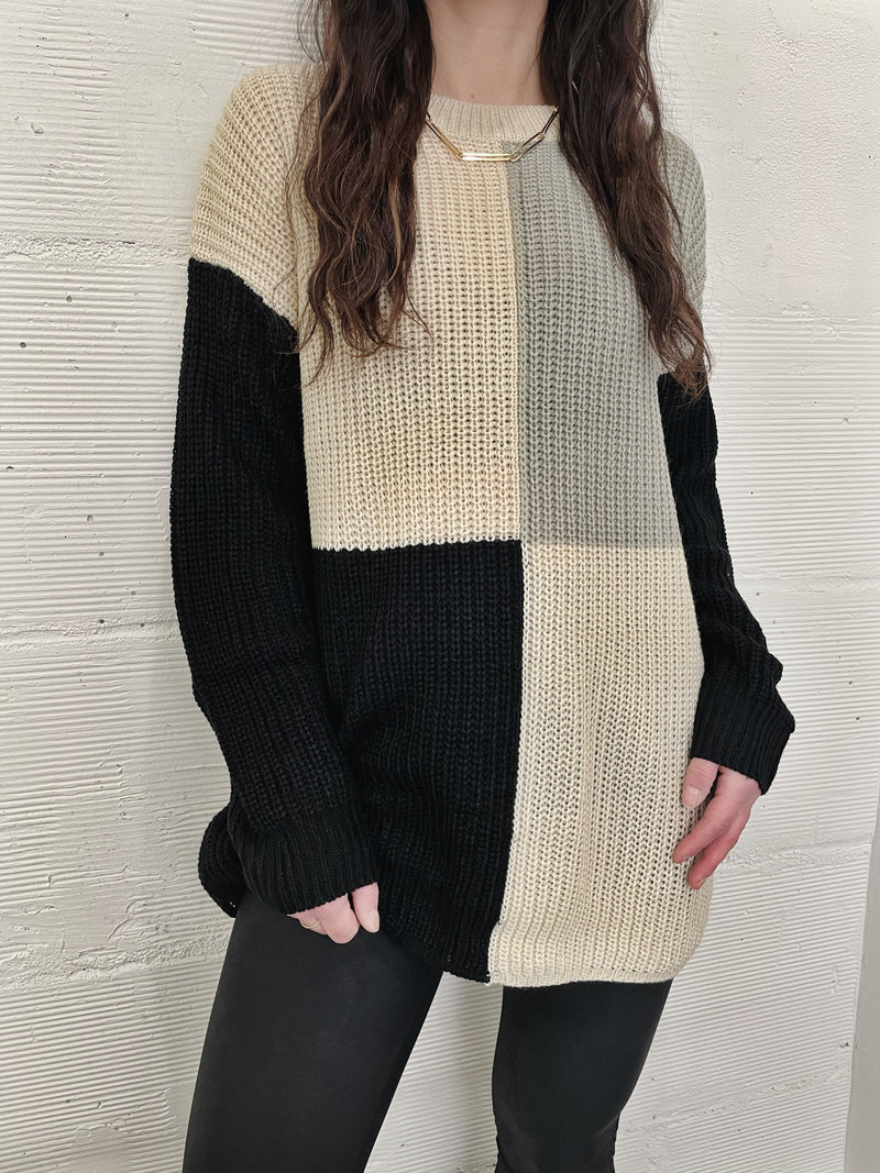 Illusion Colorblock Sweater