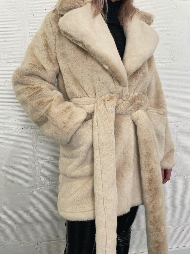 Chloe Faux Fur Coat