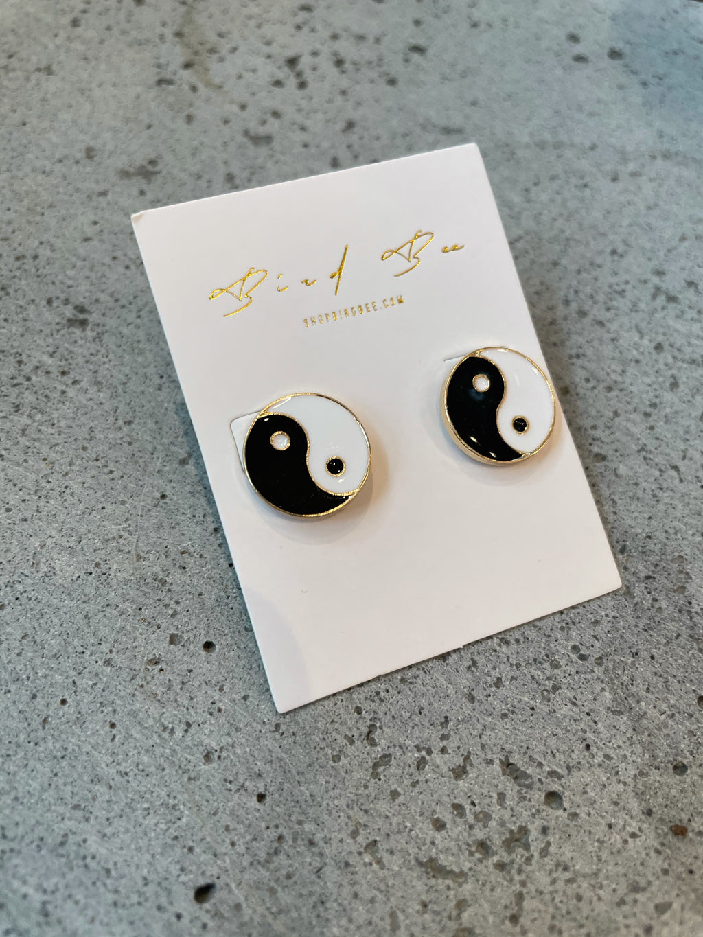 Yin Yang Stud Earrings