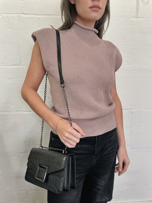 Gia Muscle Tank Sweater - Blush