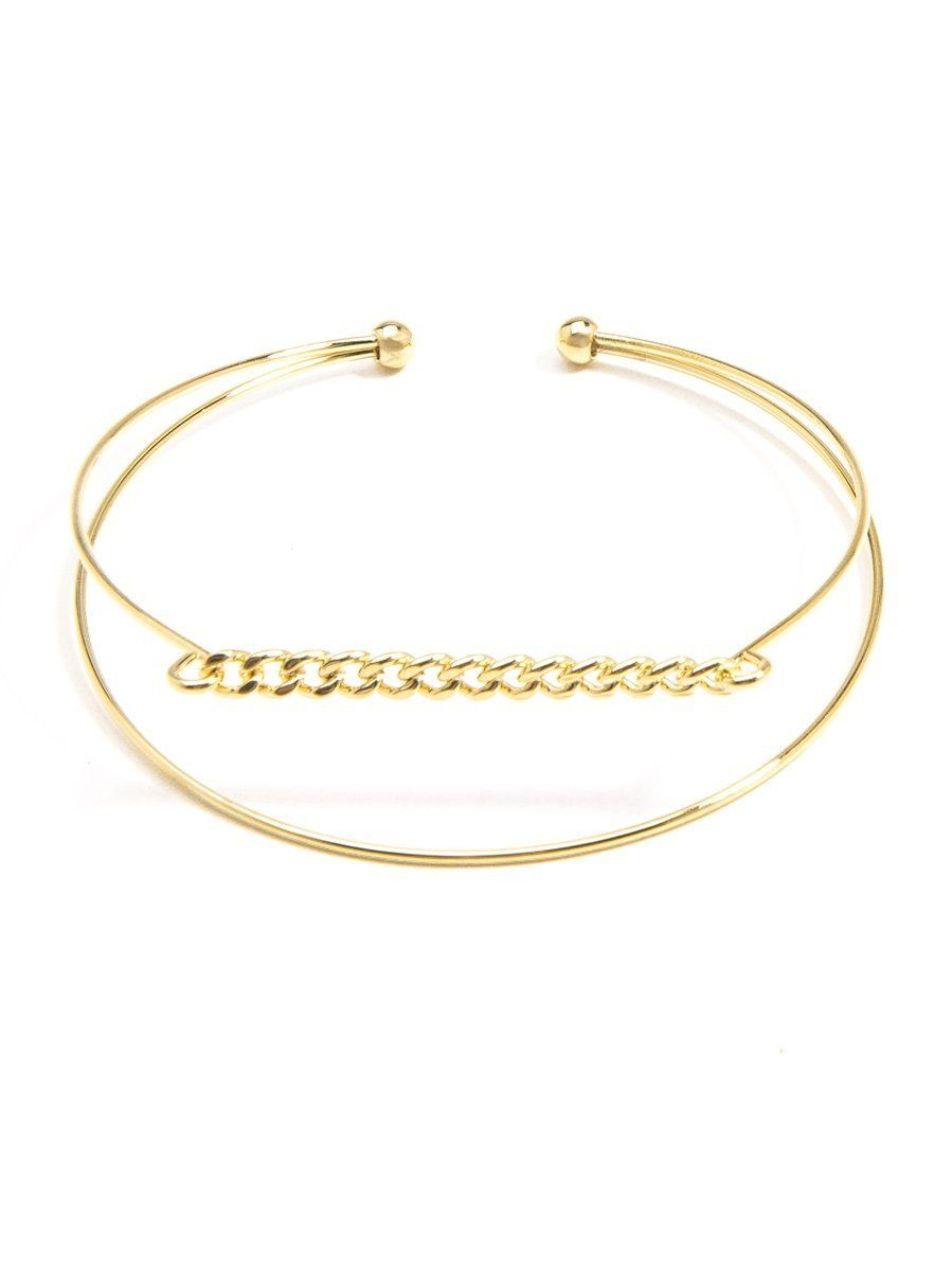 Chainlink Metal Cuff
