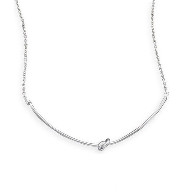 Bar Knot Necklace