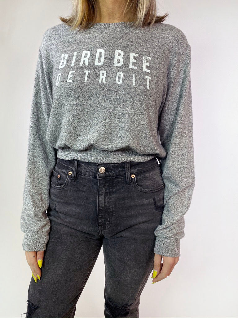 BBD Cropped Pullover - Grey