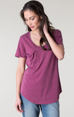 Pocket Tee by Z Supply - Sangria - BIRD BEE - 1