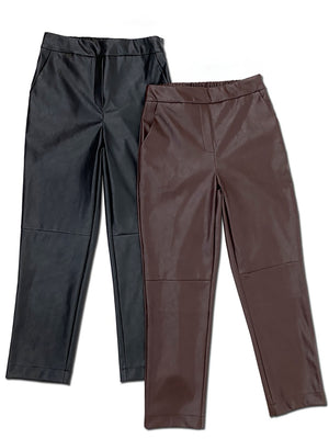 Benoit Leather Cropped Pant