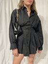 Gaia Shirt Dress - Black