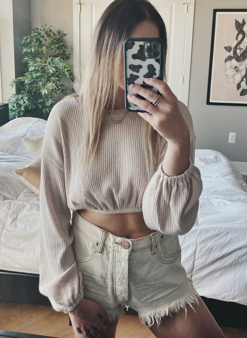 Elastic Crop Waist - Blush