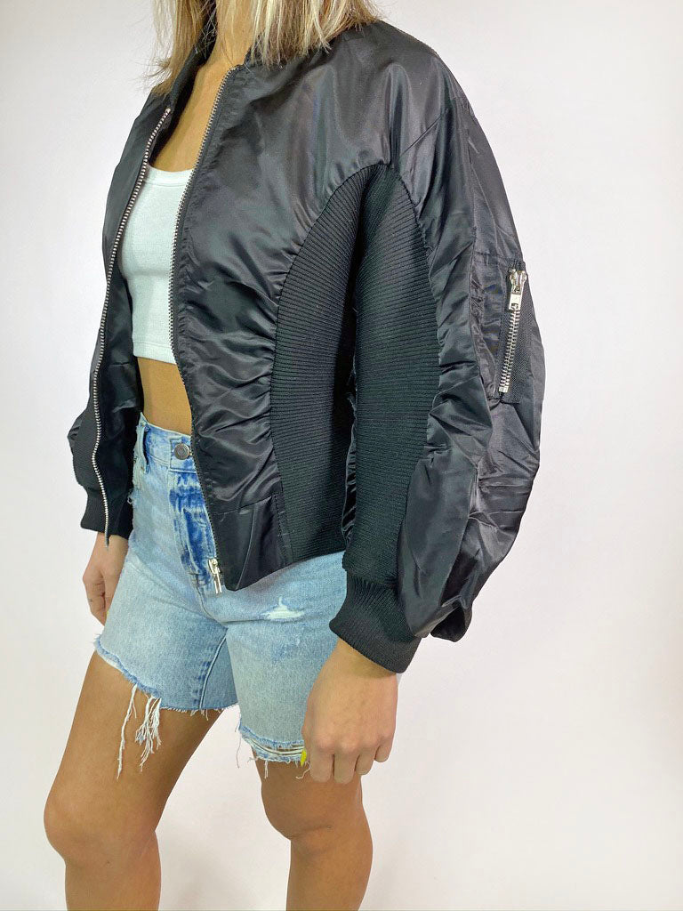 Blackout Bomber Jacket