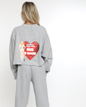 Boys Lie Match Made in Heaven Cropped Crewneck