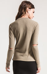 Halie Ribbed Knot Top
