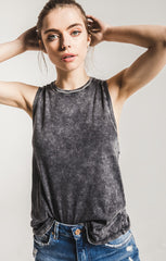 The Washed Cotton Muscle Tee