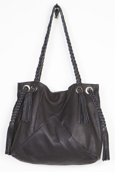 Tristen Fringed Woven Tote