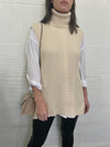Stay Composed Sleeveless Sweater - Ivory