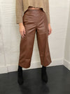 Rhye Leather Culottes - Brown