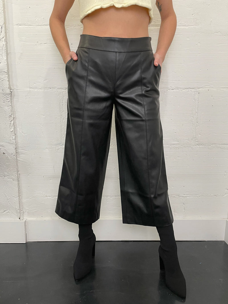 Rhye Leather Culottes - Black
