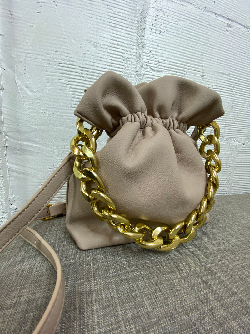 Kensie Chain Bucket Bag - Cream