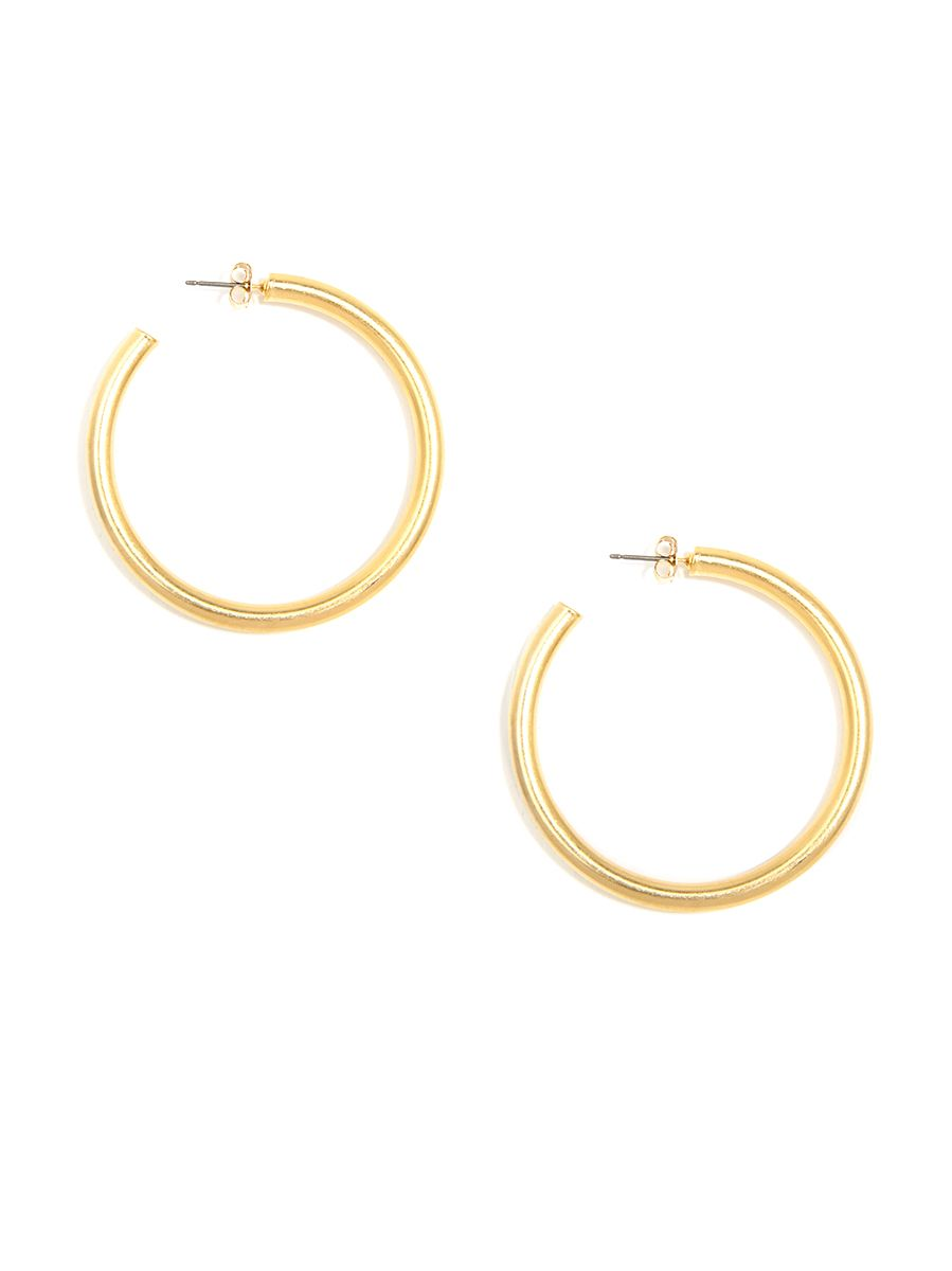 Chunky Matte Hoop Earrings