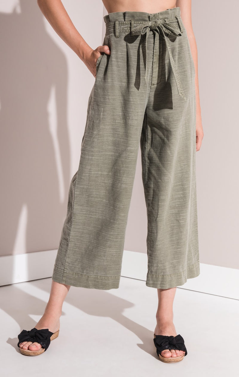 Palmetto High Rise Paperbag Pants