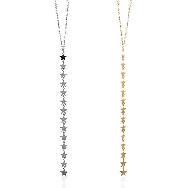 Falling Star Y Necklace