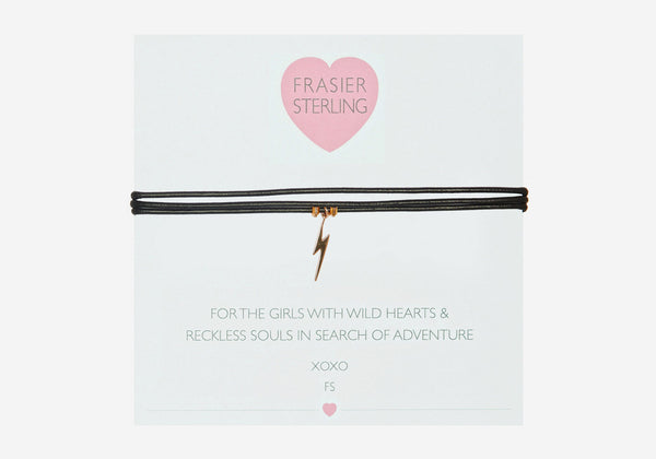 Frasier Sterling 3 Wrap Wransom Choker - Lightning Bolt