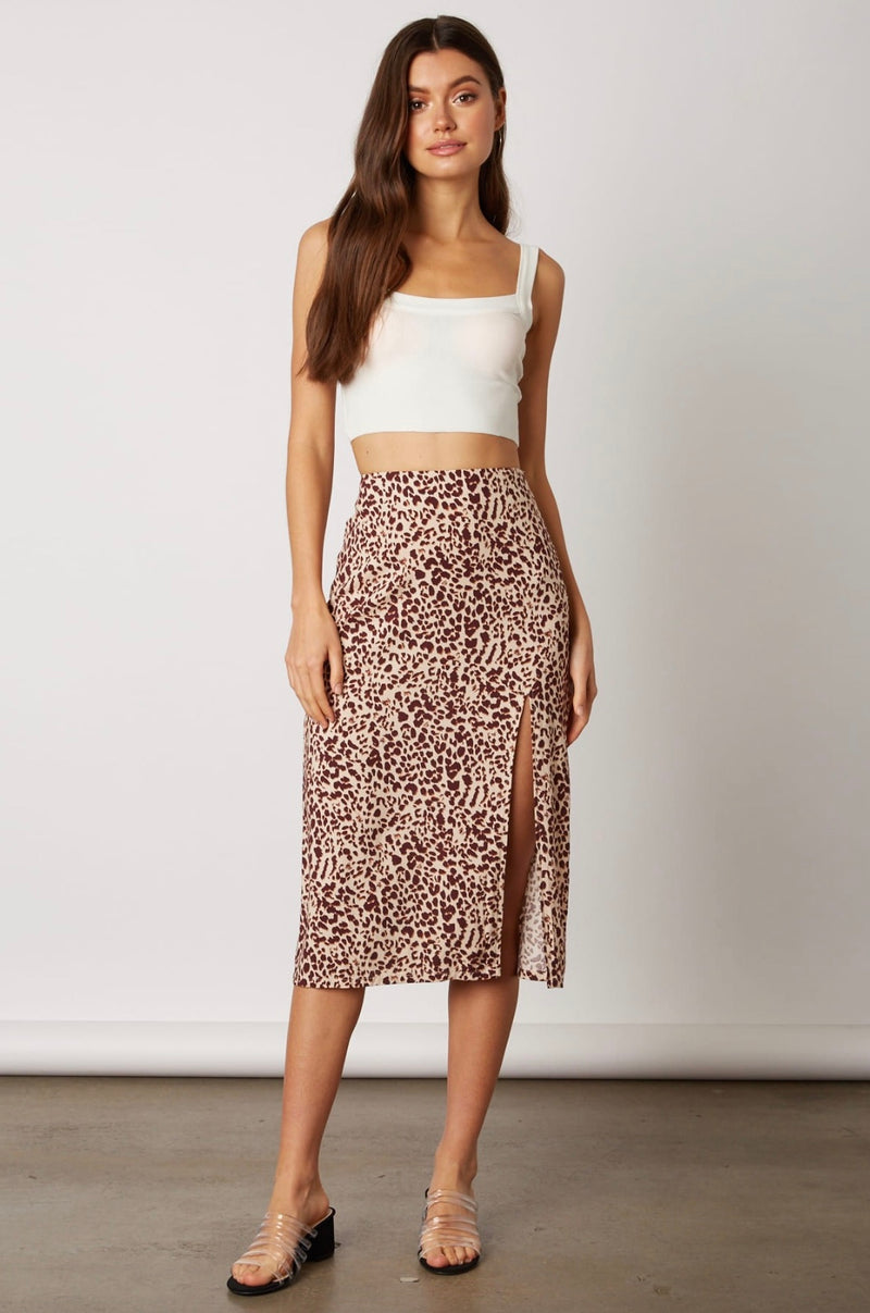 Kitten Midi Skirt - Salmon