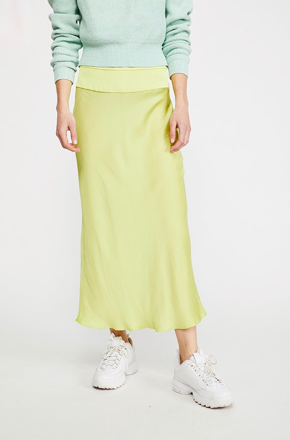 Normani Bias Skirt - Lime