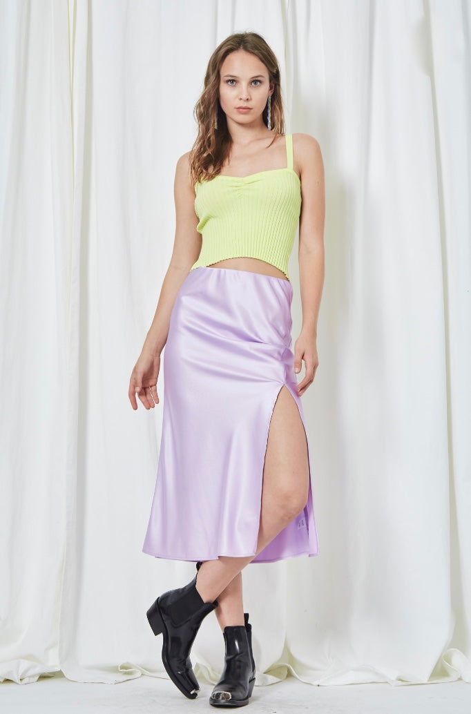Lavender Side Slit Skirt
