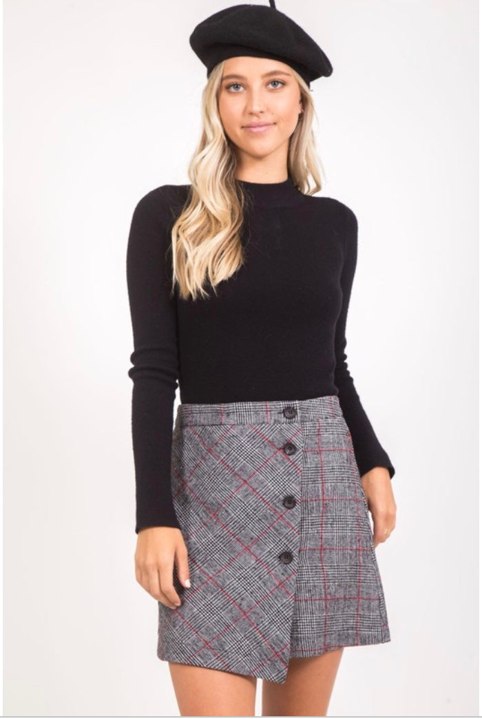 Vickie Plaid Skirt
