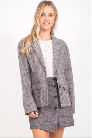 Vickie Plaid Jacket