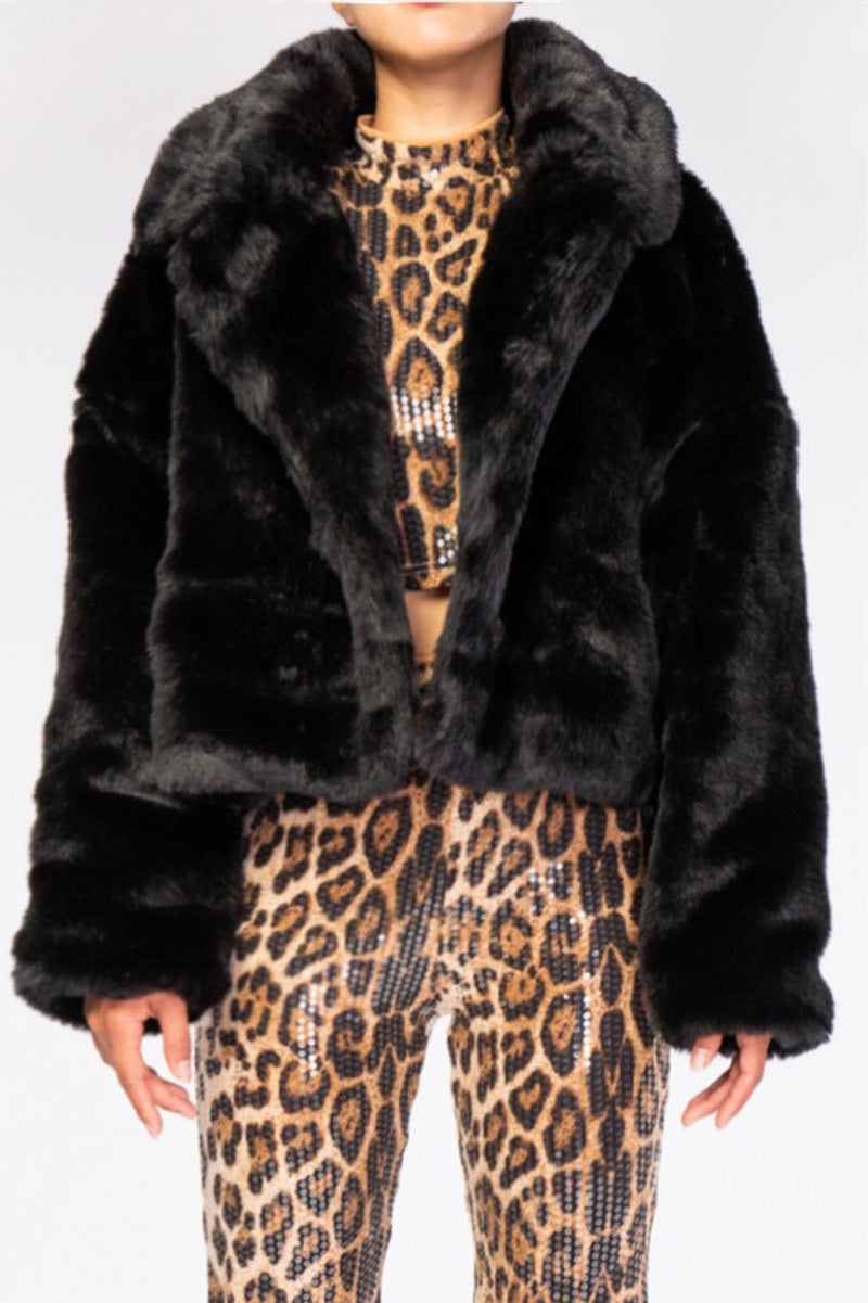 Toulon Crop Faux Fur