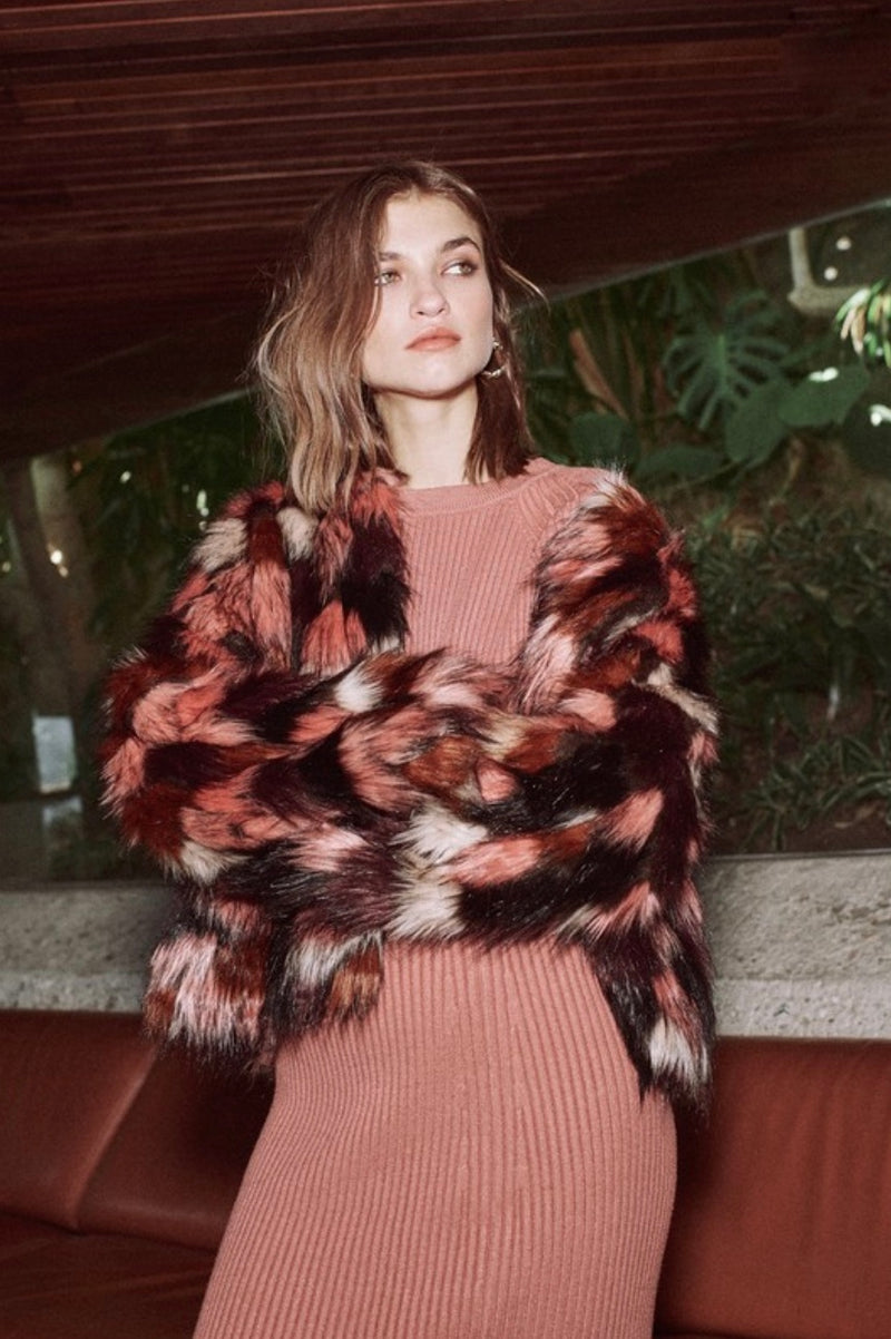 Shades Of Pink Faux Fur